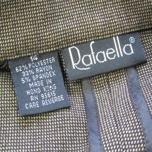 Rafaella Jackets & Coats - Rafaella Brown Check Blazer Size 14